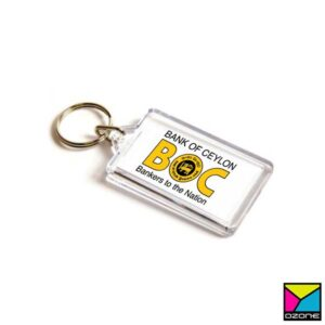 Acrylic, Plastic Key Tag Printing Rectangle