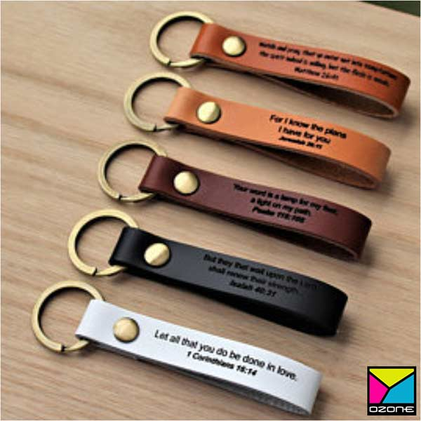 Leather Engraved Key Tag
