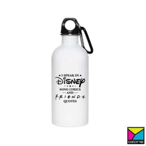 White Aluminium Water Bottle Printing