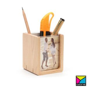 Wooden Pen Holder Branding