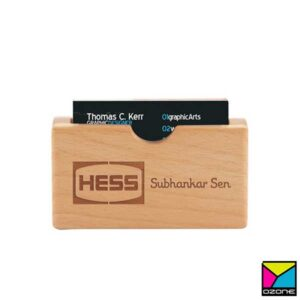 Wooden Visiting Card Holder Eco Friendly Corporate Gift