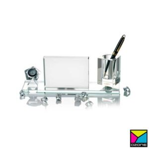Crystal Desktop Organizer Pen Holder