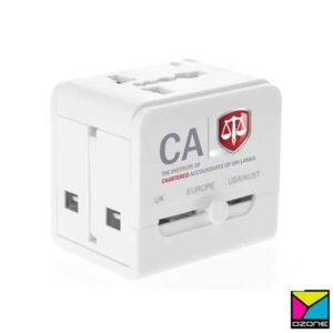 Universal Travel Adapter with Branding